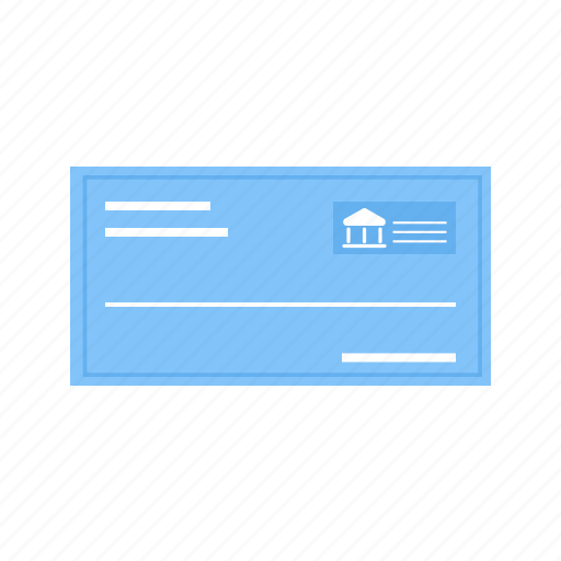 bank, cheque, document, draft, file, funds, receipt icon