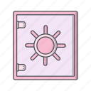locker, safe, security, vault icon