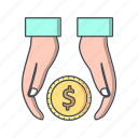 cashout, finance, loan, tax icon