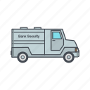 bank, protection, security, van icon