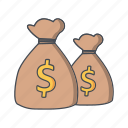 bags, dollar, finance, money icon
