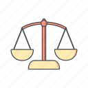 balance, justice, scale, scales icon
