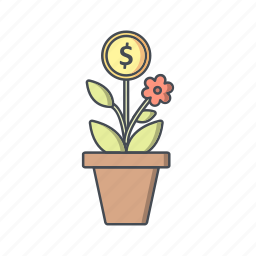 business, growth, plant icon