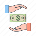 bribe, finance, loan, money icon