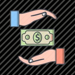bribe, finance, loan icon