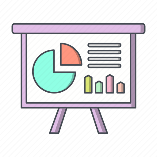 business, chart, finance, presentation icon