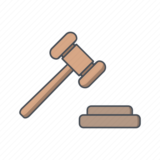 auction, court, justice, law icon