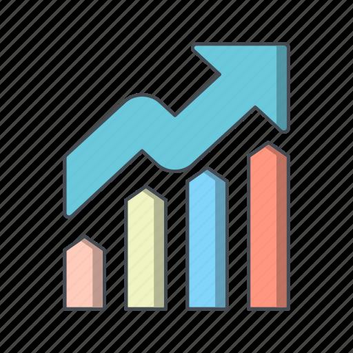 analysis, graph, growth, profit icon