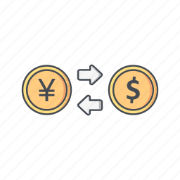 currency, exchange rate, foreign exchange icon