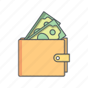 budget, cash, money, salary, wallet icon