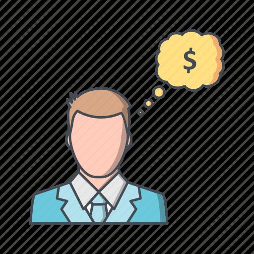 banking, creative, idea, think, thinking icon
