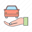 accident insurance, auto insurance, car, insurance icon