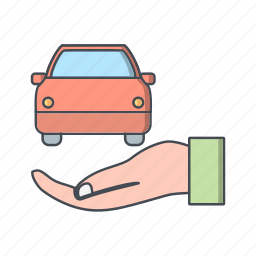 accident insurance, auto insurance, car icon