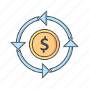 banking, currency, money, transfer icon
