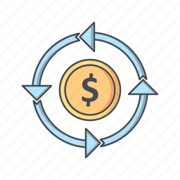 currency, money, transfer icon