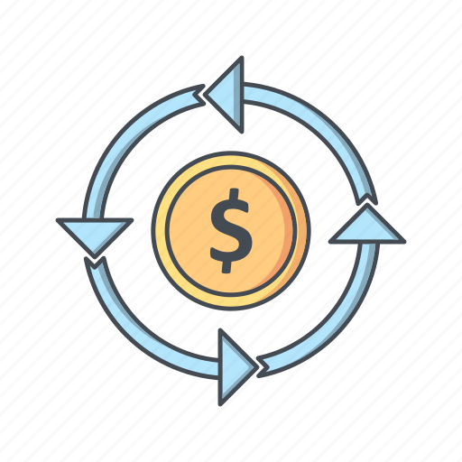 banking, currency, finance, money, transfer icon