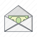 money envelope, money order, send, sending icon