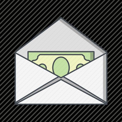 money envelope, money order, sending icon