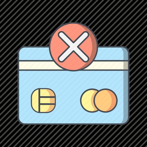 payment, sending failure, shopping, transaction icon