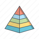 hierarchy, levels, management, pyramid icon