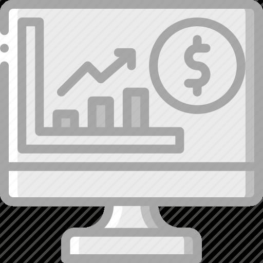 banking, finance, graph, money, profit icon