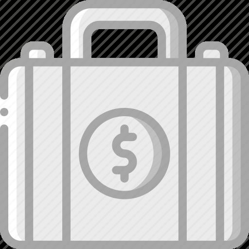 banking, briefcase, finance, money icon