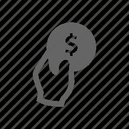 hand, invest, money, put icon