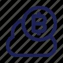 bitcoin, cloud, coin, digital, money, savings