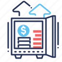 deposit, growth, savings, vault icon