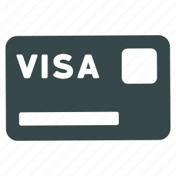 bank, banking card, credit, finance, money, payment, visa icon