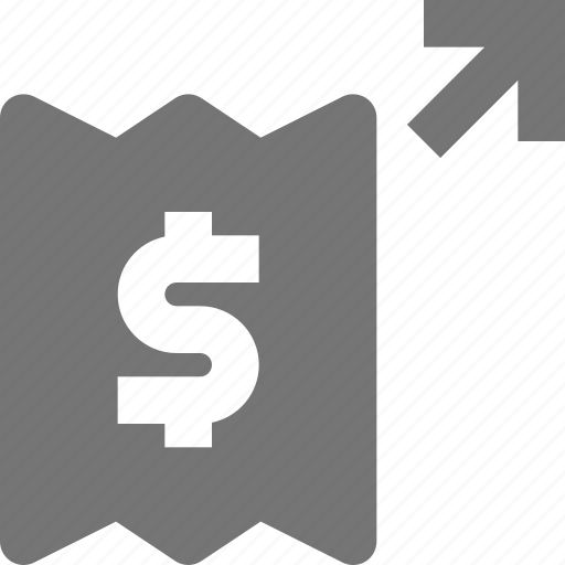 arrow, banking, money, payment icon