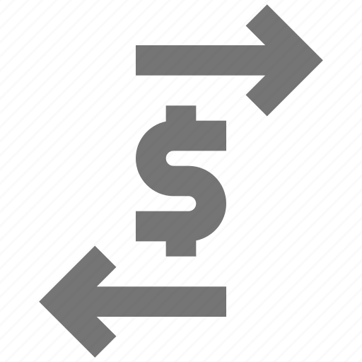 arrows, banking, money, transfer icon