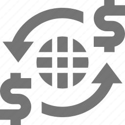 banking, international banking, money, network, refresh, reload, sync icon