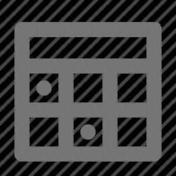 banking, calendar icon