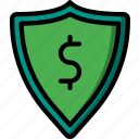 banking, finance, money, secure icon