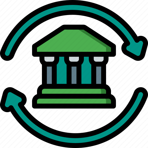 banking, finance, money, transfer icon