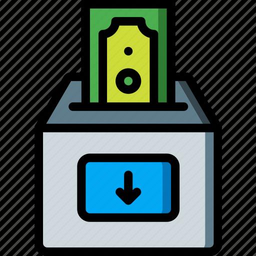 banking, deposit, finance, money icon