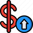 banking, dollar, finance, money, rate icon