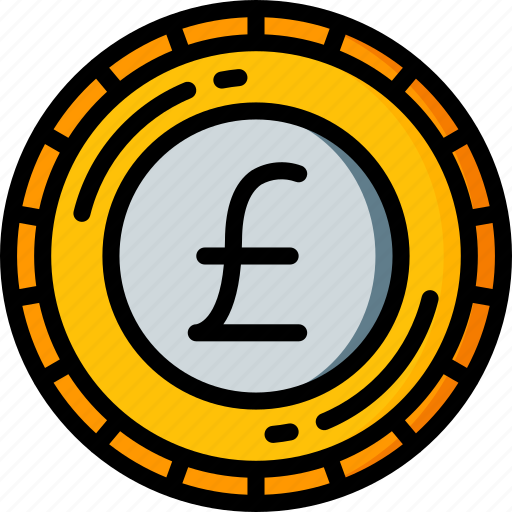 Banking, coin, finance, money, pound icon - Download on Iconfinder