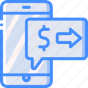 banking, finance, message, money, payment icon