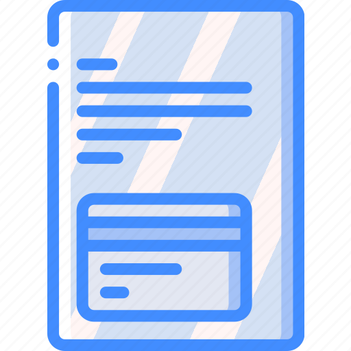 Banking, card, credit, document, finance, money icon - Download on Iconfinder