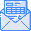 banking, email, finance, money, statement icon