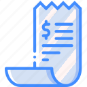 banking, finance, money, receipt icon