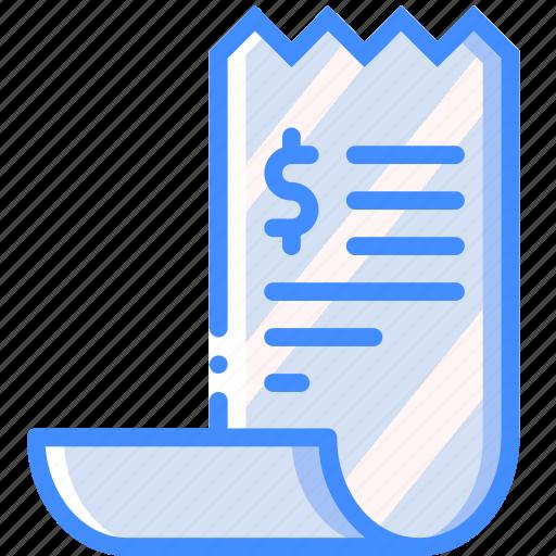 banking, finance, money, receipt icon