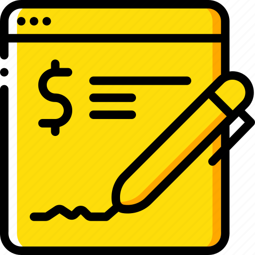 banking, finance, money, online, signature icon