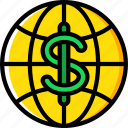 banking, finance, global, money icon