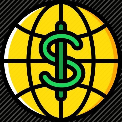 banking, finance, global, money icon
