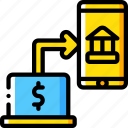 banking, finance, money, online, transfer icon