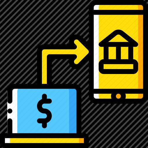 banking, finance, money, online, transfer icon