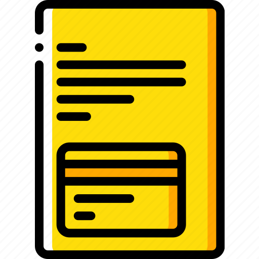 banking, card, credit, document, finance, money icon
